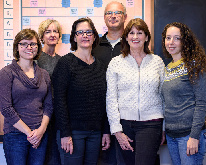The Berkeleyside team in November 2015. L to r: Kate Williams, Tracey Taylor, Frances Dinkelspiel, Lance Knobel, Wendy Cohen and Emilie Raguso. Photo: Pete Rosos