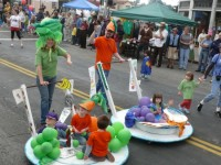 At last year's Solano Stroll El Cerrito Pre-School made a colorful impression in the parade.