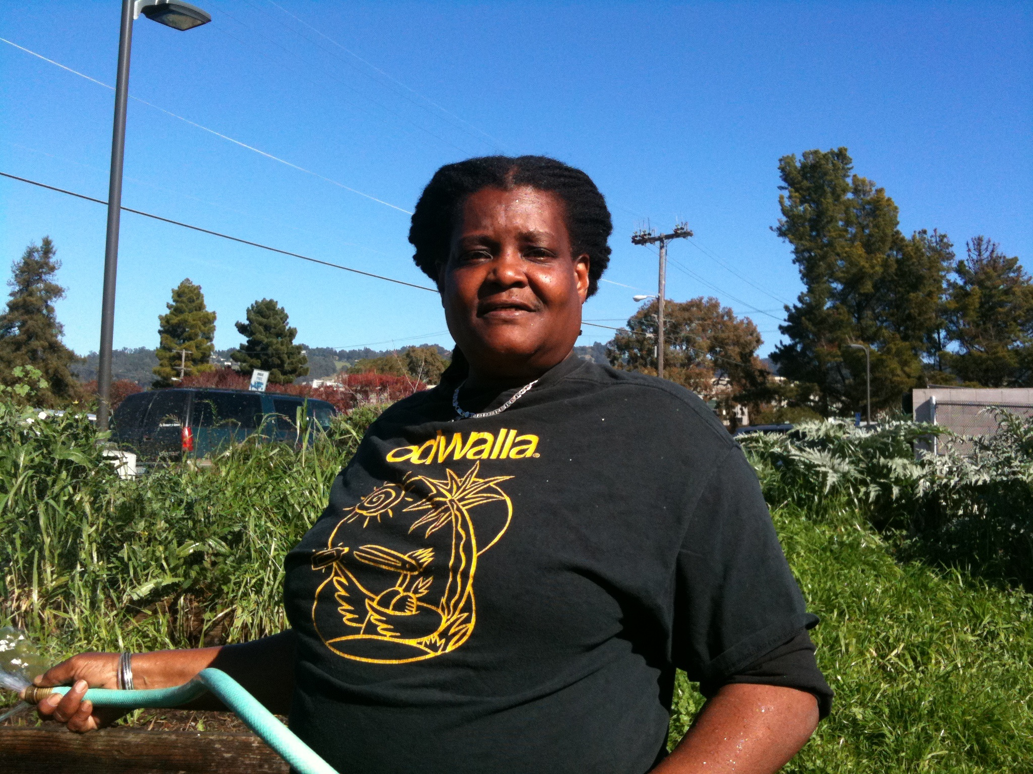 Joy Moore at the Berkeley Technology Academy garden./Photo: Sarah Henry