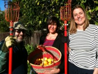 North Berkeley Harvest volunteers with founder Natasha Boissier (far right)./Photo: Sarah Henry