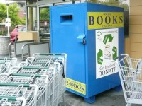 "Book bins ""for charity"" endanger donations to Friends of the Berkeley Public Library. Photo: Lance Knobel"