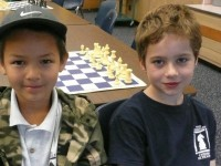 Josiah Stearman, 8, and Ben Rood, 7, will be representing the US in the World Youth Chess Championships in Brazil next week. Photo: Lance Knobel