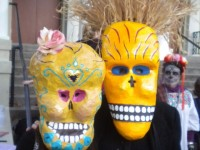 Participants at Berkeley's Dia de los Muertos celebrations last year. This year's event is Wednesday next to Off The Grid