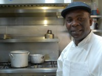 Andre Green from the Berkeley Food & Housing Project cooks for the neediest in the community. Photo: Tracey Taylor