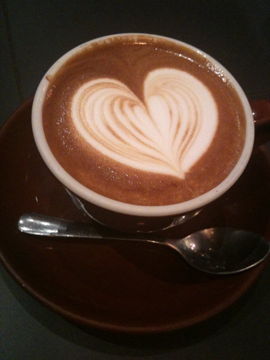 A cup of joe is also a work of art at Local 123.