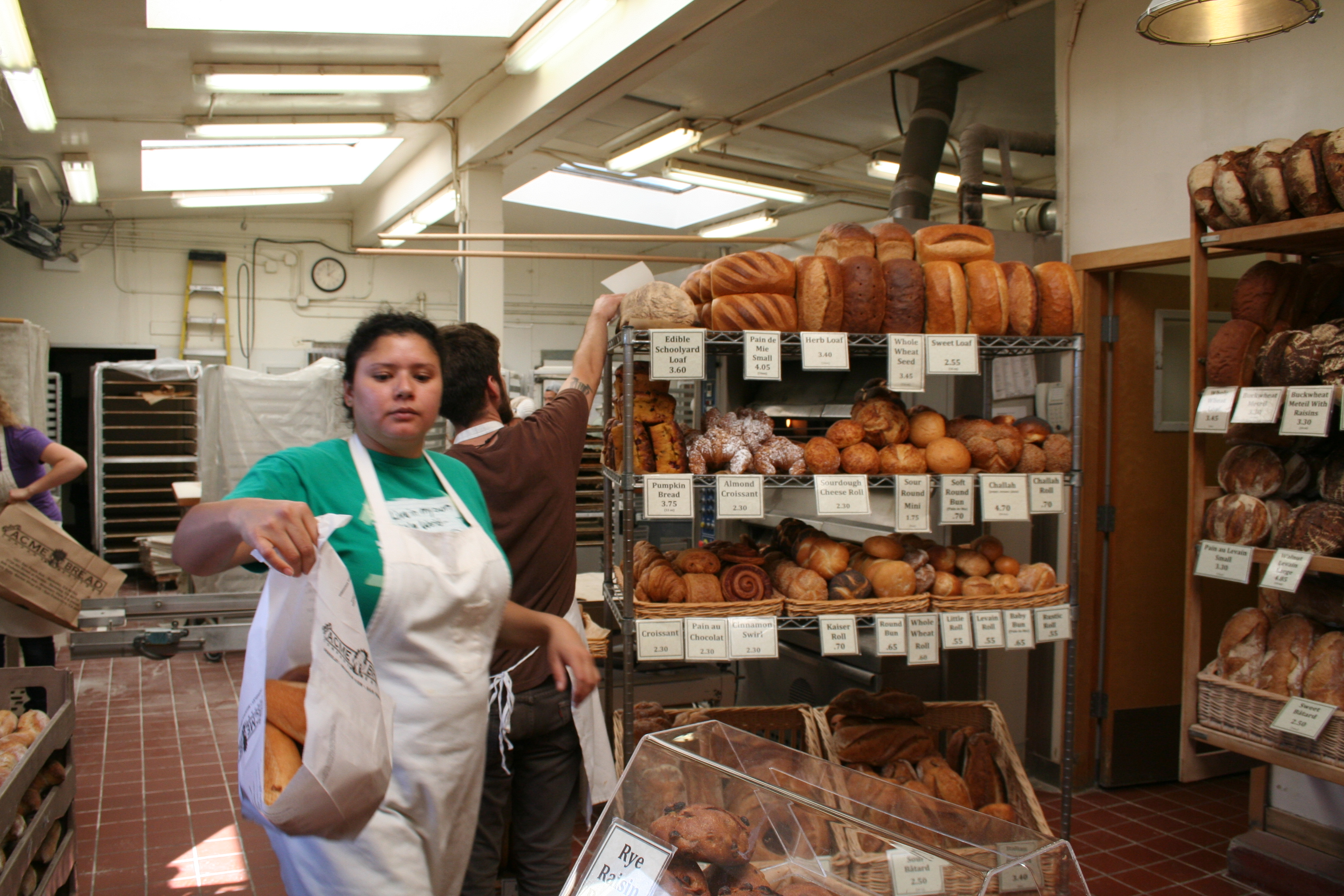 Acne Bread, which is housed in the same complex at Kermit Lynch's wine shop, was bustling Saturday. Photo: Tracey Taylor