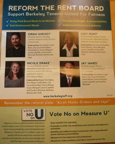 One of the mailers sent out by the Tenants United For Fairness slate mailer organization during the 2012 election.