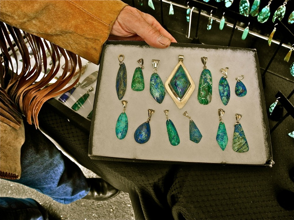 The lapidary jewelry of Fred Rosefeather. Photo: Ted Friedman