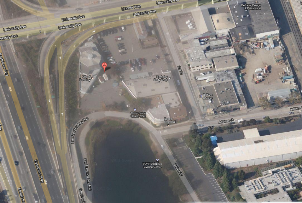 An aerial view of what the animal shelter used to look like. Image source: Google Maps