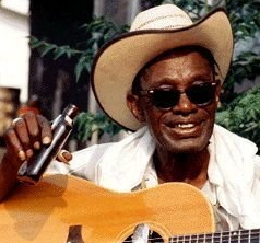 Texas bluesman 'Lightnin' Hopkins, the subject of a documentary by Les Blank
