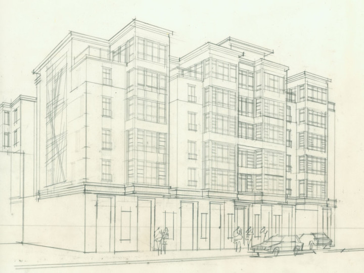 Preliminary rendering for 1931-1935 Addision.