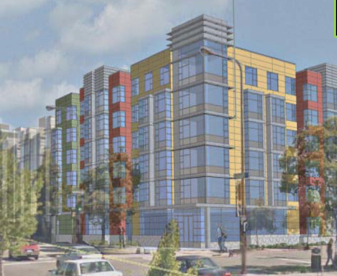 A rendering of the proposed apartment complex at 2107 Dwight Way.