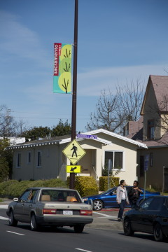 New district banners, 3/6, Sacramento & Russell
