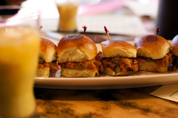 Pav Sliders from Juhu Beach Club. Photo: Emilie Raguso