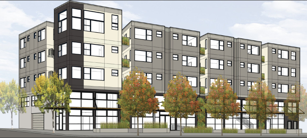 A rendering of 2701 Shattuck Avenue by Todd Jersey Architects