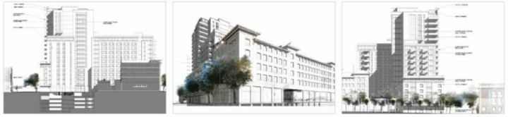 A detail view of project elevations. (Click to see a more in-depth presentation.) Image: Courtesy of HSR Berkeley Investments