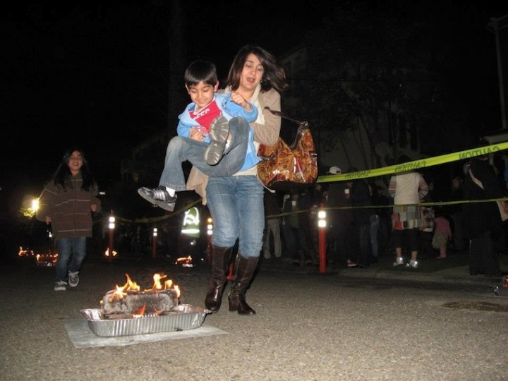 mom fire jumping