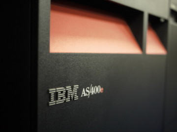An IBM AS/400 minicomputer. It was once high technology. Photo: nSeika