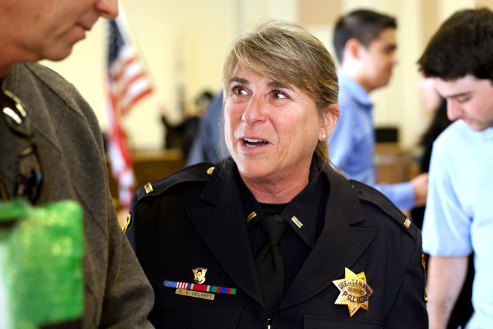 Lt. Diane Delaney was the first woman selected to serve on the Berkeley Police Department's hostage negotiation team. Photo: Emilie Raguso