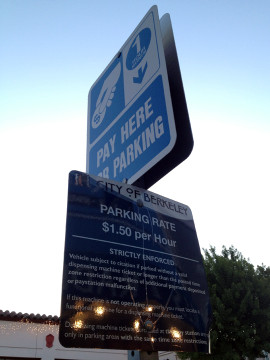 One-hour metered parking is the norm on College. Photo: Emilie Raguso