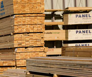Stocked lumber yard Bay Area