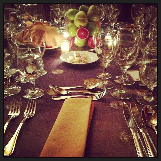 The lovely table settings promised a memorable meal, and did not disappoint. Photo: Emilie Raguso