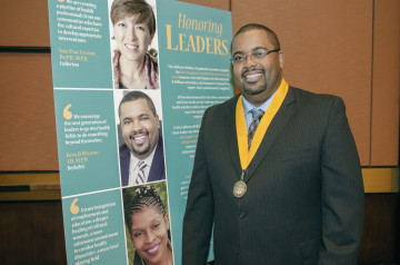 Kevin D. Williams accepted the Champions of Health Professions Diversity award from The California Wellness Foundation last Monday in Los Angeles