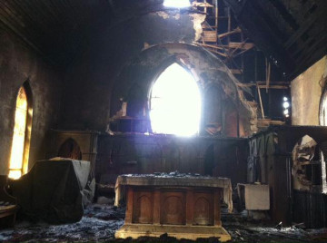 In the midst of rebuilding. Photo: Rev. Este Gardner Cantor.