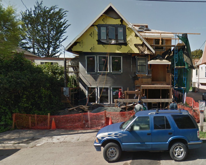The city has, in the past, identified 2133 Parker street as a mini-dorm property south of the Cal campus. Image: Google Maps