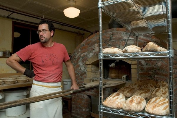 Eduardo Morell mans the oven at the Headlands Center for the Arts in Marin. Photos: Eric Smith
