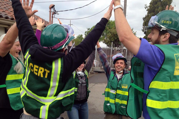 At the end of the training, CERT volunteers who had met Friday, for the most part, as strangers, had bonded through the rigorous program.