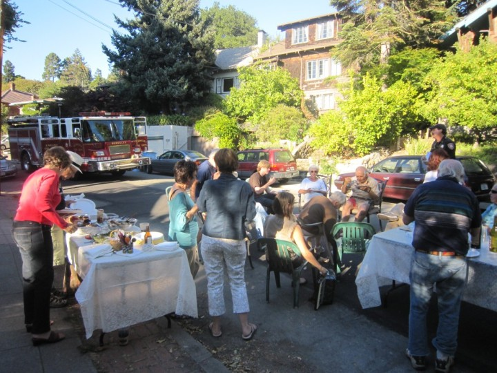 Residents in the 1000 block of Shattuck Avenue gathered for National Night Out last year. Photo: Hannah Long