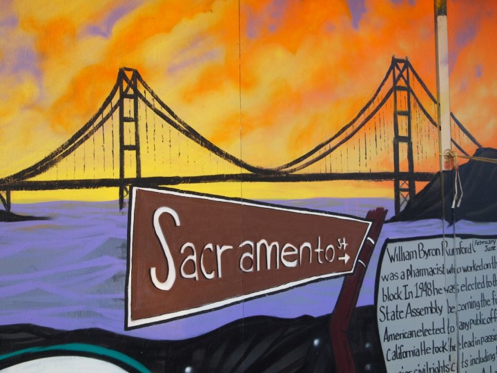 The mural focuses on history and community. Photo: Sofia Zander