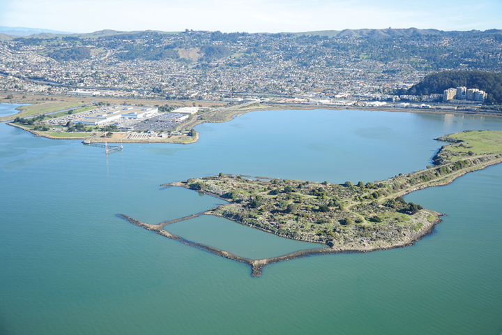 An aerial view of the Albany Bulb. Photo: CLUI