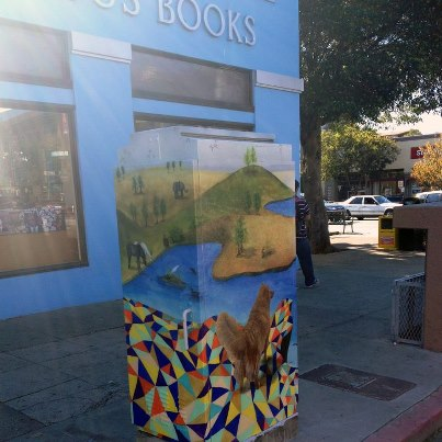 Utility boxes like this are planned for Sacramento and Adeline streets. Photo: Streets Alive!