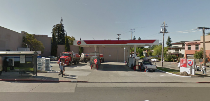A proposal to build a Walgreen's to replace the 76 station at Solano and Colusa Avenues has drawn a testy response from neighbors. Photo: Google Street View