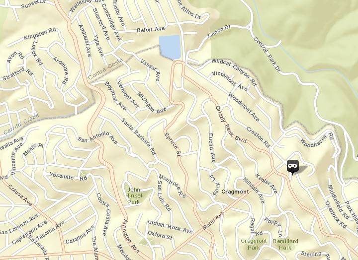 Police arrested two women after a burglary on Forest Lane earlier this month. Image: CrimeMapping.com
