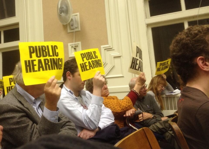 Opponents of a Starbucks planned for 3001 Ashby packed last night's City Council meeting. Photo: Natalie Orenstein