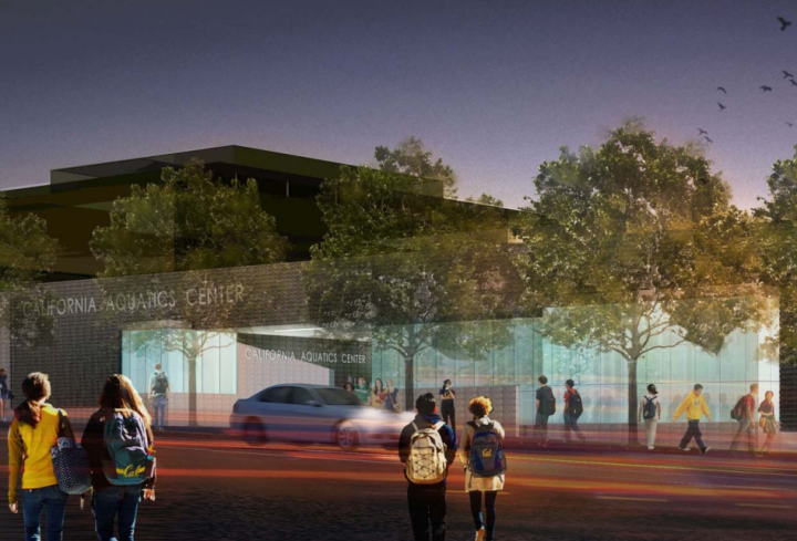 UC Berkeley is planning to build a new aquatics center at 2222 Bancroft Way. Image: UC Berkeley