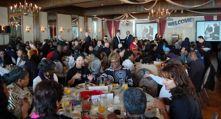 Over 350 Berkeleyans gathered for the third annual community breakfast honoring the life and legacy of Martin Luther King Jr. Photo: Lance Knobel