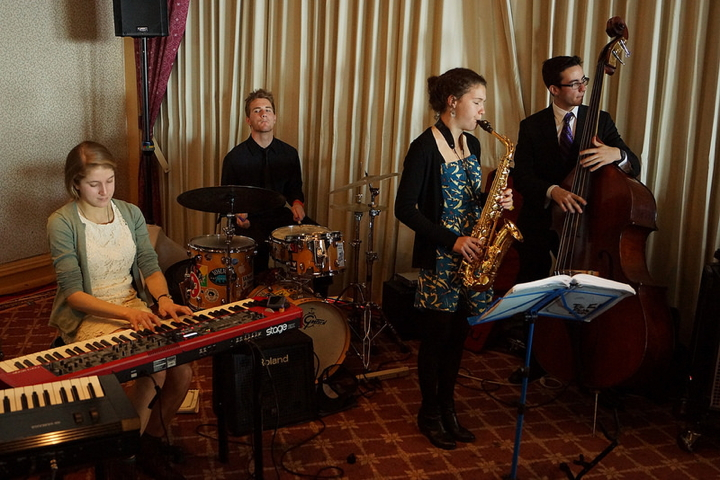 Members of the Berkeley High Jazz Ensemble provided musical accompaniment to the breakfast. Photo: Mark Coplan
