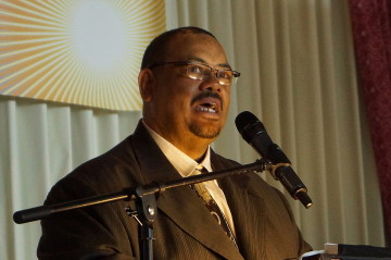 Pastor Leslie White, who returned to Berkeley to give the keynote address at the King breakfast. Photo: Mark Coplan