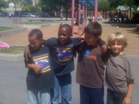Kids on the Malcolm X playground