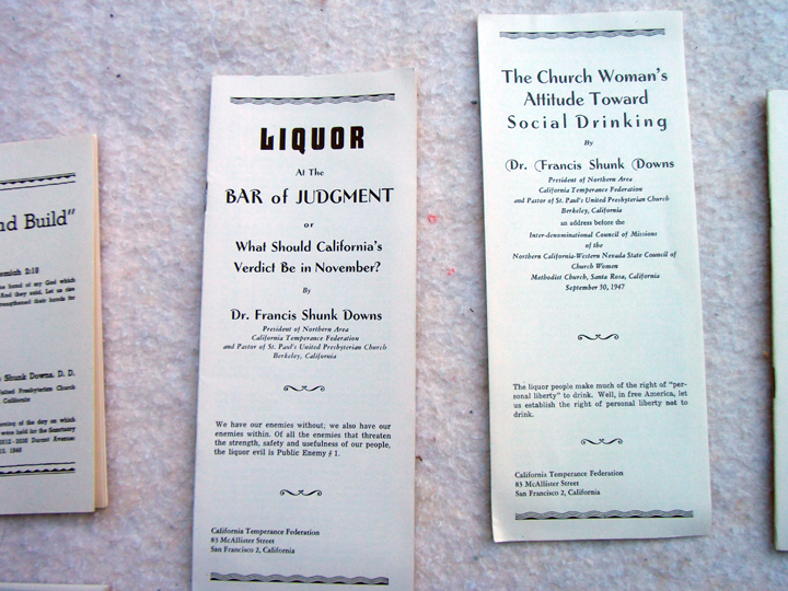 Pro-temperance literature written by the founding St. Paul's pastor. Photo: Leonard Nielson