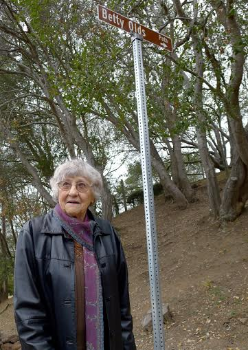 Betty Olds, for whom one of Berkeley's paths was named on Saturday Jan. 11, 2014. Photo: Colleen Neff