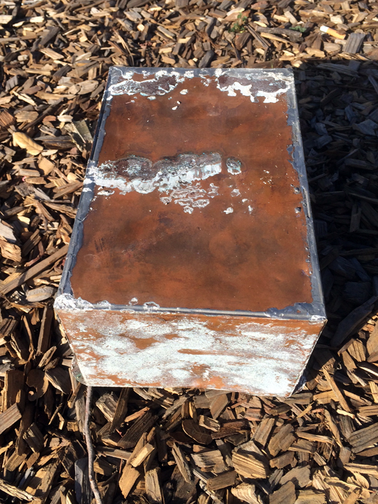 This copper box, 10 inches long by 8 inches wide by 8 inches tall, was discovered on a construction site in Berkeley last week. Photo: Bill Schrader Jr.