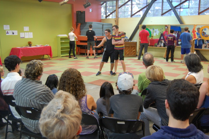 A Youth Musical Theater dance rehearsal for Urinetown. Photo: Youth Musical Theater Company