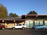 Public electric vehicle charging station in Novato. Photo: Alan Gould