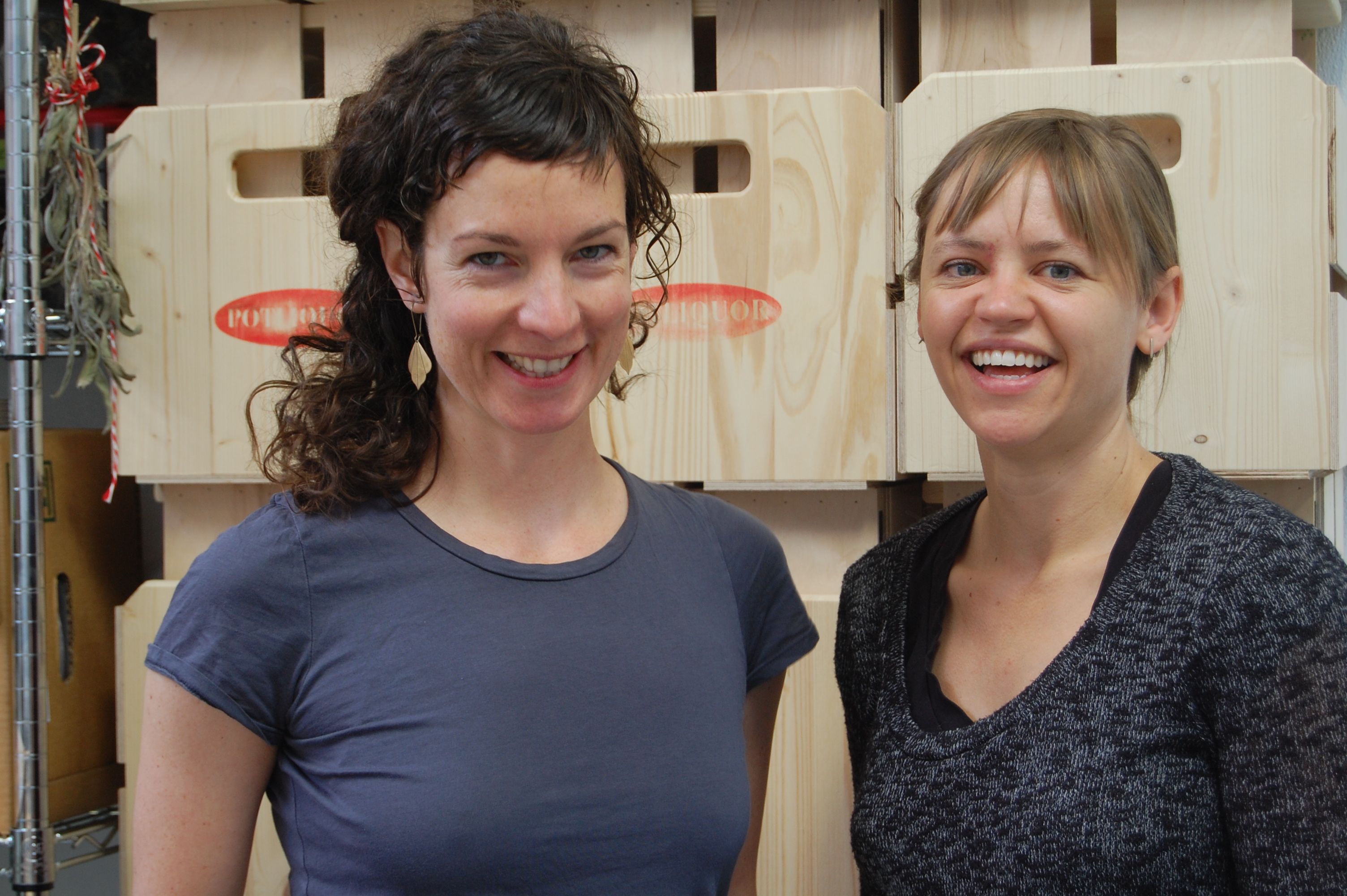 Jennifer Lynch and Laura McGrath, founders of Potliquor.