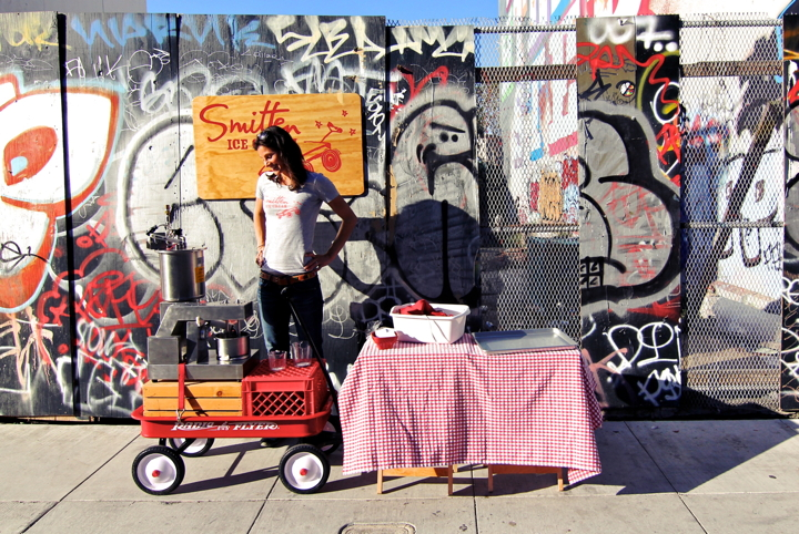 Smitten founder Robyn Sue Fisher started her business serving ice cream out of a red Radio Flyer wagon. Photo: Smitten